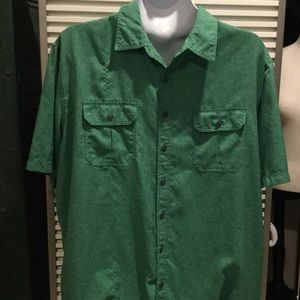 CROFT &BARROW szXL GREEN QUICK DRY ADVENTURE SHIRT